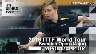 Download 2016 Swedish Open Highlights: Truls Moregard vs Juan Lamdarid (Qual) Video