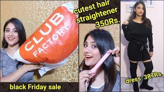 Download CLUB FACTORY HAUL || black Friday sale * sabse sasta* || shystyles Video