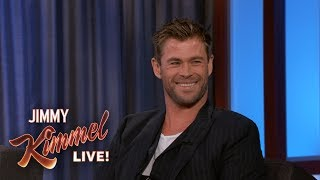 Download Chris Hemsworth Reveals Where He Keeps His Hammer Video