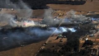 Download Raw: Oklahoma Wildfire Whipped by Strong Winds Video