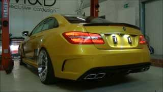 Download Mercedes E-Coupe 500 c207 - PD850 Black Edition Widebody Exhaust by M&D exclusive cardesign Video