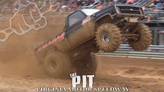 Download MUD TRUCKS BOMB THE PIT at VIRGINIA MOTOR SPEEDWAY Video