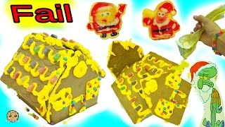 Download Fail Video - Making Spongebob Squarepants Holiday Food Gingerbread House Cookie Kit Video