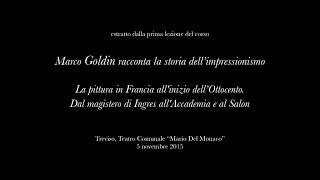 Download ″Marco Goldin racconta la storia dell'impressionismo″ - prima lezione (estratto) Video