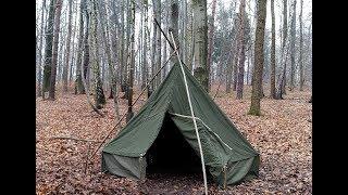 Download Ogrzewane schronienie na zimowe noce - przygotowanie do biwaku. Video