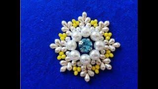 Download طريقة تنبات وردة بالجوهر للمبتدئاتhand embroidery Video