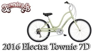 Download 2016 Electra Townie 7D - Step Through Women's Bike - Available at Bumsteads! Video