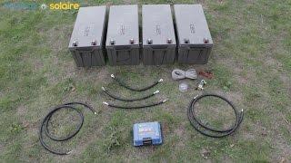 Download Montage d'un kit solaire 1000W - 48V/230V - avec 4 batteries 12V Video