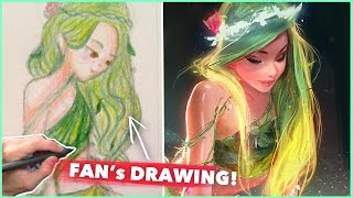 Download PAINTING A FAN'S DRAWING! :D Video