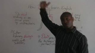 Download How NOT to Learn English - Studying English at Home Video