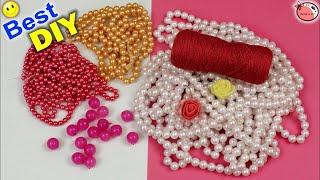 Download Door Hanging Toran Making Using Pearls    DIY Designer Toran Making At Home    Home Decoration Ideas Video