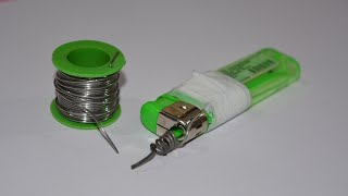 Download How to Make a Soldering Iron by Lighter - Creative Video Video
