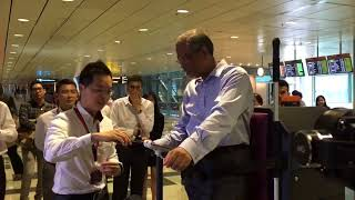 Download Masagos Zulkifli testing out a housekeeping janitorial cart Video