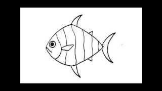 Download สอนวาดรูป การ์ตูน ปลา อย่างง่าย Video