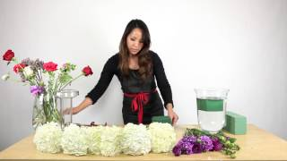 Download How to make a Hydrangea Centerpiece (quick tutorial) Video