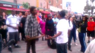 Download Michael Colyar fights Venice Beach bum gangster Video