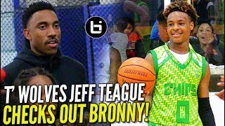 Download LeBron James Jr. Gives T'WOLVES Jeff Teague A GLIMPSE OF THE FUTURE! Blue Chips vs Amigos! Video