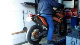 Download Supermoto Zuid Holland / KTM 660 smc dyno run. Video
