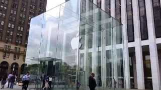 Download Apple Store on Fifth Avenue, midtown Manhattan, New York City Video