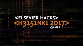 Download Elsevier Hacks 2017 Video