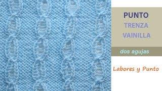 Download Como tejer el punto trenza vainilla a dos agujas- Labores y Punto Video
