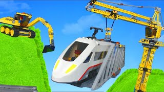 Download Excavator, Train, Truck, Tractor, Crane & Dump Trucks Lego Construction Toy Vehicles for Kids Video