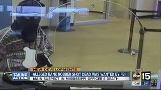 Download Alleged bank robber shot dead wanted by FBI Video