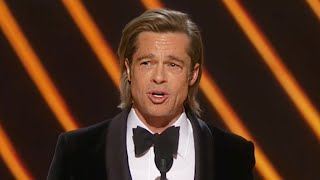 Download Brad Pitt Gives Emotional Speech After Oscar Win For Best Supporting Actor Video