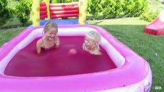 Download Water Playground Fun and Magic Gelli Baff in Giant Pool Princess for Children Challenge Video
