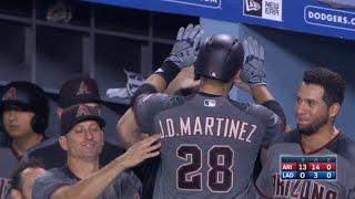 Download ARI@LAD: Martinez hits four home runs against Dodgers Video