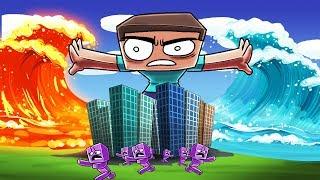 Download Minecraft | LAVA TSUNAMI VS TSUNAMI CHALLENGE! (Which one will Win?) Video