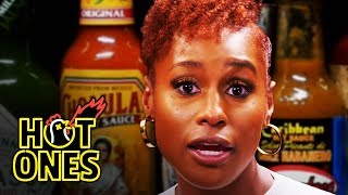 Download Issa Rae Raps While Eating Spicy Wings | Hot Ones Video