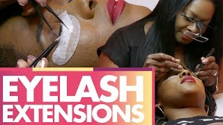 Download DREW GETS EYELASH EXTENSIONS!!! (Beauty Trippin) Video