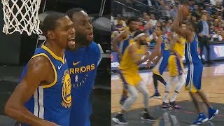 Download Kevin Durant Trash Talks Javale McGee With Draymond After He Gets Dunked On! Lakers vs Warriors Video