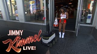 Download Jimmy Kimmel Orders Food from DoorDash Robot Video