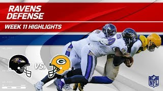 Download Baltimore's D Racks Up 6 Sacks, 3 INTs & 2 Fumble Recoveries | Ravens vs. Packers | Wk 11 Player HLs Video