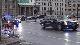 Download US President Barack Obama Convoy Berlin 17.11.2016 Video