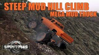 Download SpinTires MEGA MUD TRUCK VS STEEP MUD HILL CLIMB Video