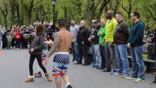 Download New York - Street Acrobat performance - Central Park - PART 1 Video