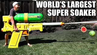 Download World's LARGEST SUPER SOAKER!! (not clickbait) Video