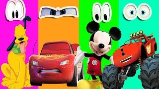 Download Wrong Eyes Mickey Mouse Clubhouse Pluto Cars 3 Lightning Mcqueen Blaze Monster Machines SO FUNNY Video