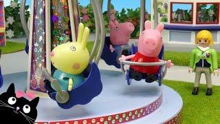 Download Peppa Pig y George van al Parque de Atracciones de Playmobil - Juguetes de Peppa Pig Video