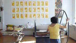 Download California artist prints her activism Video