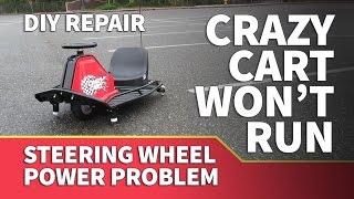 Download Razor Crazy Cart Not Working – Steering Wheel Causes Crazy Cart to Stop Running Video