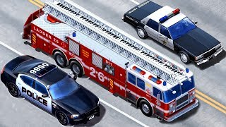 Download Kids Vehicles Emergency - Police Car, Fire Truck, Tow Truck| Kids Construction Vehicles App for Kids Video