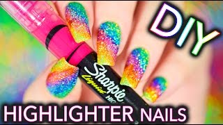 Download DIY Sparkly Highlighter Rainbow nails!!! Video