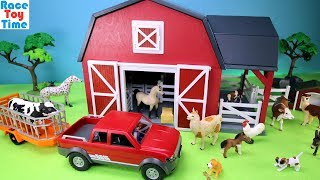 Download Farm Barn Terra Playset with Fun Animals Toys For Kids Video