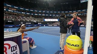 Download Sloane Stephens Getting Her Wakeup Call After White Player Tries to Get In Her Face w/NO PENALTY Video