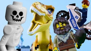 Download LEGO Dinosaurs, Police & Time Travel (Compilation) STOP MOTION   LEGO City Fails   By Billy Bricks Video