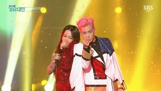Download T.O.P X Uhm Jung Hwa - 'D.I.S.C.O' in 2016 SBS Gayodaejun Video